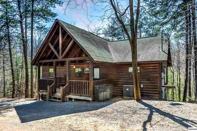 2 Bedroom Pet Friendly Cabin Between Gatlinburg And Pigeon Forge With Hot Tub