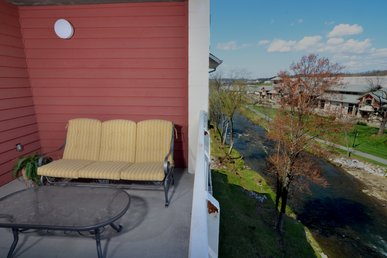 Private Balcony W/rocking Chairs • Leather Recliners • Riverside