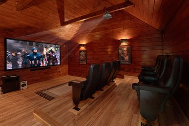 Private Theater Room - Luxury 3 bedroom cabin