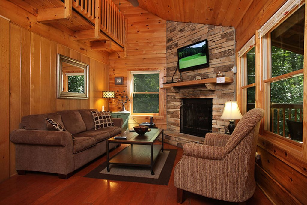 Photo of a Gatlinburg Cabin named Nature's Hideaway - This is the second photo in the set.