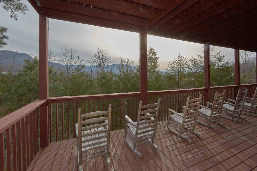 Photo of a Gatlinburg Cabin named Pool And A View Mansion - This is the fourth photo in the set.