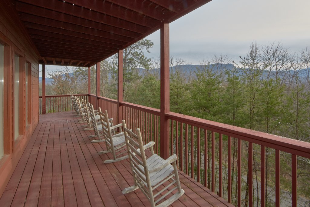 Photo of a Gatlinburg Cabin named Pool And A View Mansion - This is the fifth photo in the set.