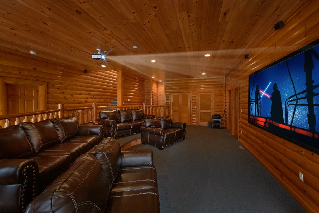 Photo of a Sevierville Cabin named Movie Room Retreat - This is the first photo in the set.