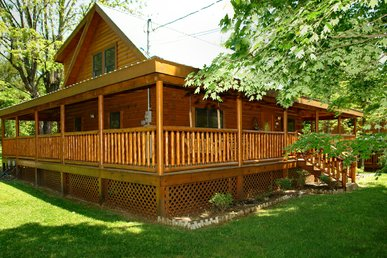 3 Bedroom Pigeon Forge Cabin Rental With Hot Tub, Rockers And Gas Grill