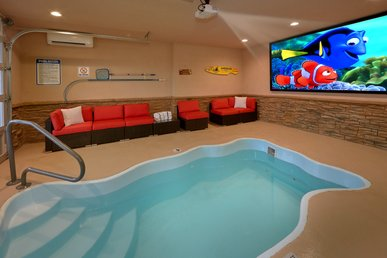 Luxury Private Indoor Heater Pool With Game Room