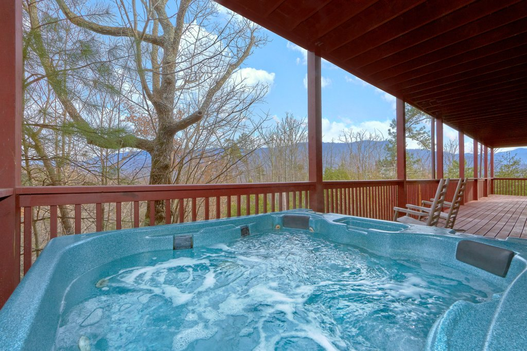 Photo of a Gatlinburg Cabin named Pool And A View Mansion - This is the second photo in the set.