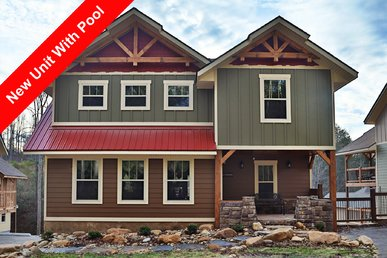 This 6 Bedroom Gatlinburg Pool Cabin Built In December 2017 Will Amaze You!