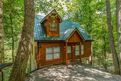 Economical 1 Bedroom, 1 Bath, Semi-secluded Cabin With A Hot Tub And Pool Table.