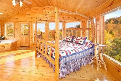 A 2 Bedroom, 2 Bathroom, Deluxe Cabin For 6 With Forested Views From A Resort.