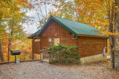 Cozy Studio Cabin With 1 Bedroom, 1 Bath, Gas Fireplace, Hot Tub & Views.