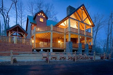 Mountain View Mansion Cabin In Gatlinburg W 6 Br Sleeps18