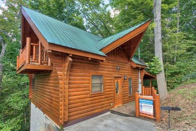 Romantic 1 Bedroom, 1 Bath True Log Cabin With A Heart Shaped Jacuzzi & Hot Tub.