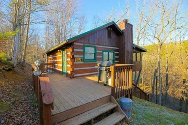 1 Bedroom, 2 Bath Value Cabin For 4 With A Screened-in Porch And A Hot Tub.