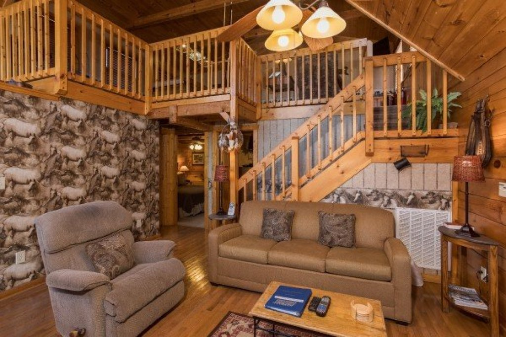Photo of a Pigeon Forge Cabin named Hooked On Cowboys Lodge - This is the fourth photo in the set.