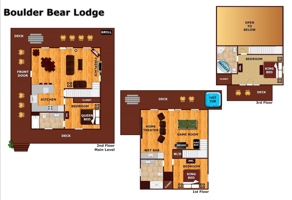 Photo of a Pigeon Forge Cabin named Boulder Bear Lodge #355 - This is the thirty-fifth photo in the set.