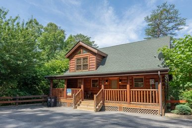 A 1 Bedroom, 1.5 Bath Luxury Cabin For 6 With A Hot Tub And Two Fireplaces.