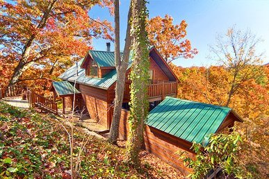 1 Bedroom, 2 Bath Semi-secluded Honeymoon Cabin With A Hot Tub And Horseshoes.