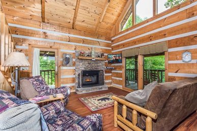 2 Bedroom Secluded Cabin Near Pigeon Forge With Authentic Logs