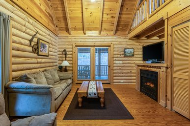 Pet-Friendly cabin with fireplace, pool table, hot tub, and free passes to local attractions.
