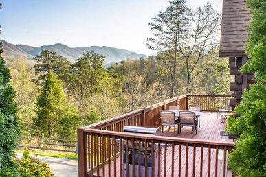 Three-story cabin with spectacular views, home theater, sauna, & free passes to local attractions.