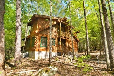 Pet-friendly cabin with wood-burning fireplace, hot tub, and free passes to local attractions.