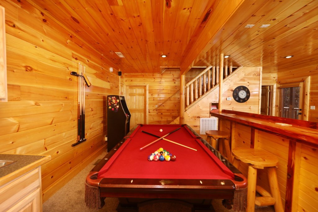 Photo of a Sevierville Cabin named Playhouse Cinema - This is the thirty-third photo in the set.