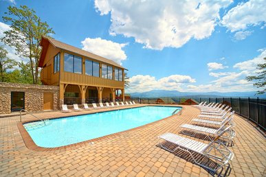 Pigeon Forge Log Cabin With Incredible Mountain Views & Swimming Pool Access!