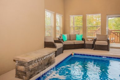 Indoor Pool, Game Room, Hot Tub, Fireplace, Views, A Perfect Swimmin' Spot!