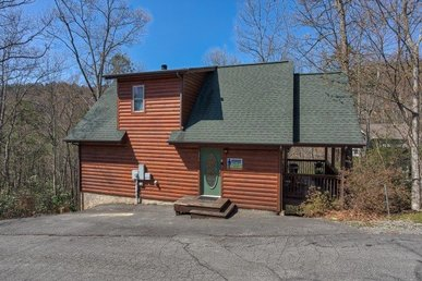 1 Bedroom, 1 Bath Deluxe Cabin For 4 With A Wood Burning Fireplace & A Hot Tub.