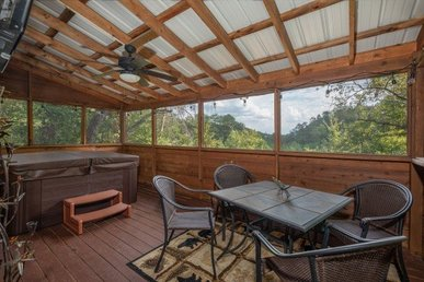 A 3 Bedroom, 2 Bath, Deluxe Cabin For 8 With A Great Game Room & Hot Tub.