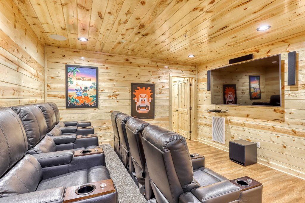 Photo of a Sevierville Cabin named Mountain High Cinema - This is the first photo in the set.