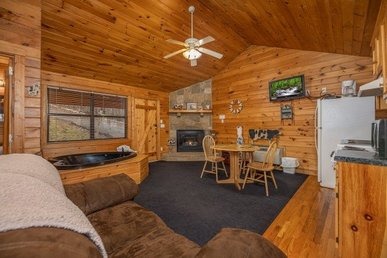 A Romantic And Quaint Studio Value Cabin For Two With A Hot Tub & Jacuzzi.