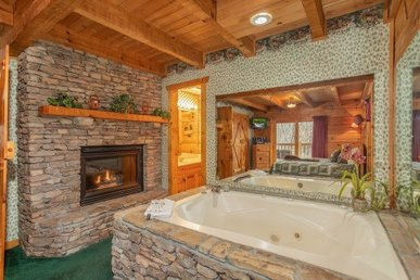 Deluxe Cabin For 6 With Two Master Suites. Handicapped-friendly With A Hot Tub.