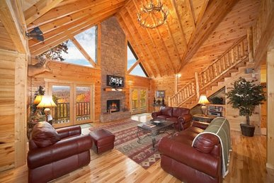 3 Bedroom, 3.5 Bath Luxury Plus Cabin In A Resort With Out Of This World Views.