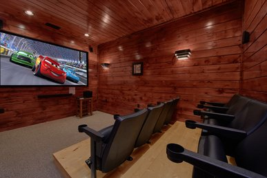 Luxury 3 Bedroom Gatlinburg Cabin With Home Theater Room And Sauna Room