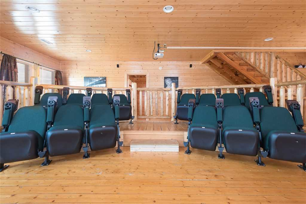 Photo of a Sevierville Cabin named Home Theater Lodge - This is the second photo in the set.