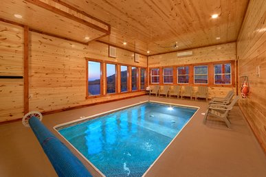 Luxury Cabin With Private Indoor Pool And Theater