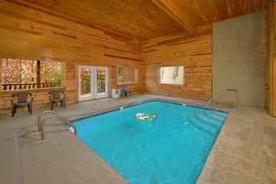 3 Bedroom Luxury Cabin With Indoor Pool, 9 Foot Theater Screen - Sleeps 12