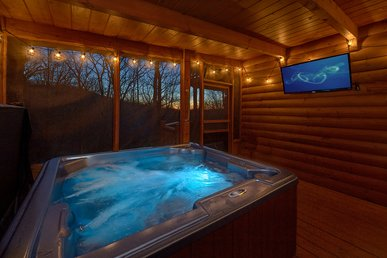 Experience An Amazing Themed Cabin With Theater Room Close To All The Fun!