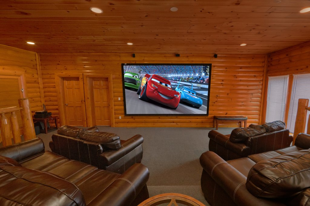 Photo of a Sevierville Cabin named Movie Room Retreat - This is the second photo in the set.