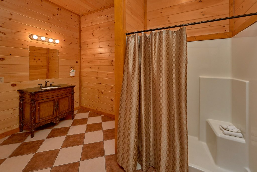 Photo of a Sevierville Cabin named Movie Room Retreat - This is the twenty-seventh photo in the set.