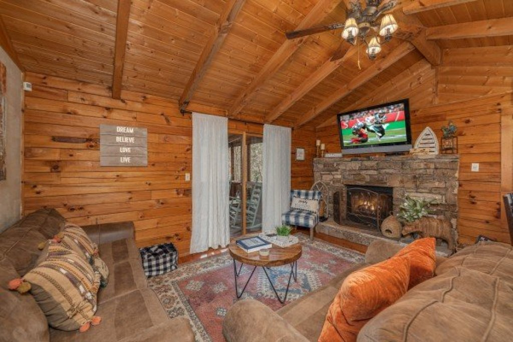 Photo of a Sevierville Cabin named Snuggle Inn - This is the second photo in the set.