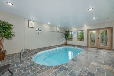 A 4 Bedroom, 4 Bath, Luxury Plus Cabin For 12 With A Private Indoor Pool.