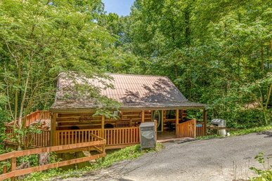 2 Bedroom, 2 Bath Cabin With A Modern Kitchen And Movie Room With A 70