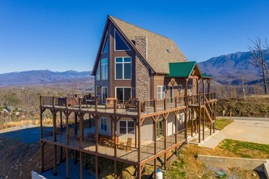 A 3 Bedroom, 4 Bath, Luxury Plus, Brand New Cabin For 8 With Amazing Amenities.