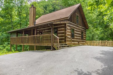 2 Bedroom 2 Bathroom Pet Friendly Cabin With Fenced In Yard On Bluff Mountain