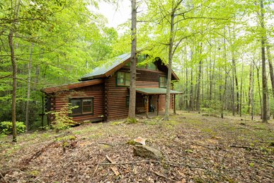 Splendid cabin with fireplace, hot tub, pool table, and seasonal pool access