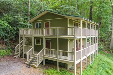 3 Bedroom, 2 Bath Deluxe Cabin For 10, Great For Families With A Game Room.