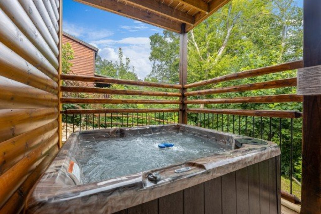 Photo of a Gatlinburg Cabin named Pool & A View - This is the twenty-eighth photo in the set.