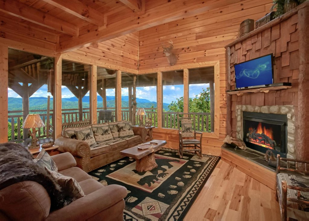Photo of a Sevierville Cabin named Lovers Loft #62 - This is the second photo in the set.